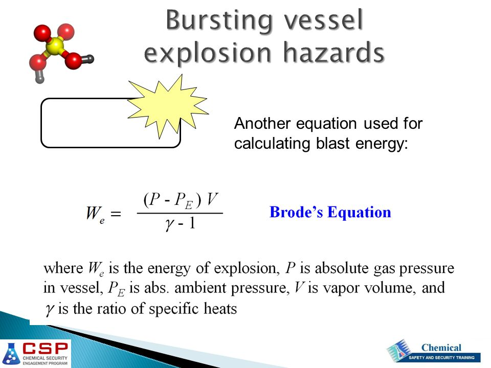 Another equation used for calculating blast energy: