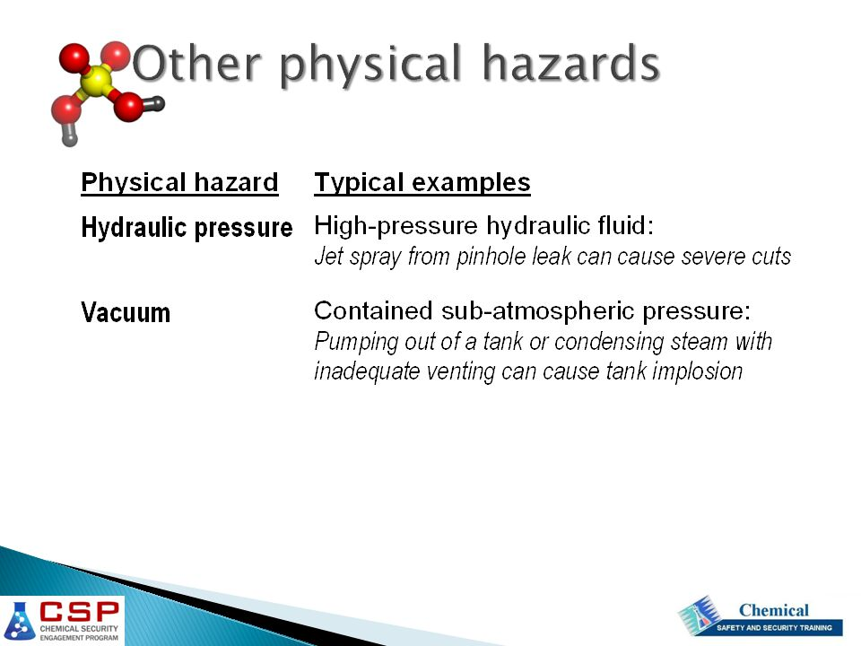 Other physical hazards
