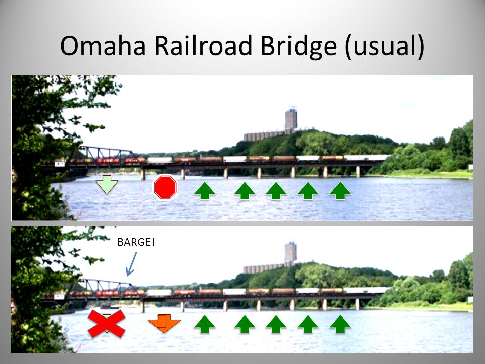Omaha Railroad Bridge (usual) BARGE!