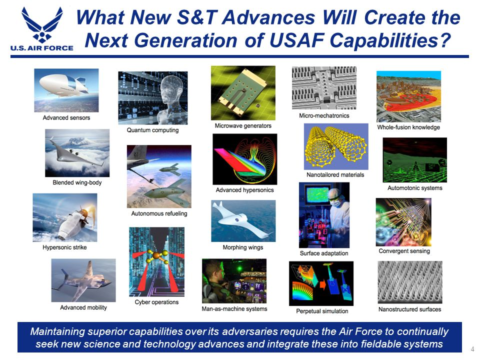 5 U.S. Air Force Technology Horizons SecAF / CSAF Tasking LetterTerms of Reference (TOR)