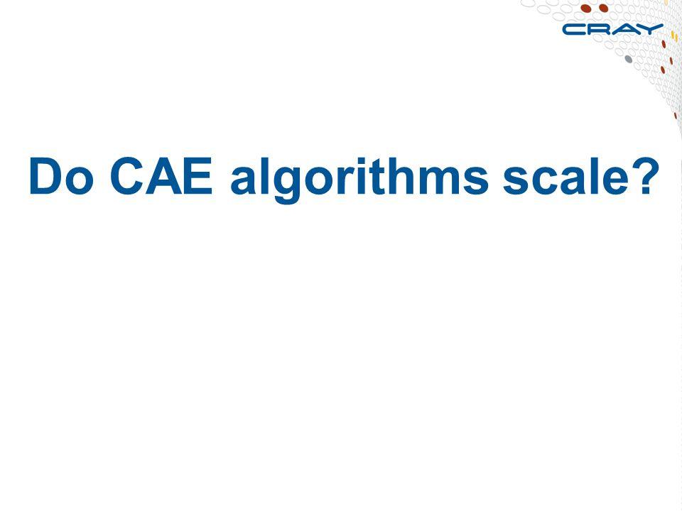 Do CAE algorithms scale? 14