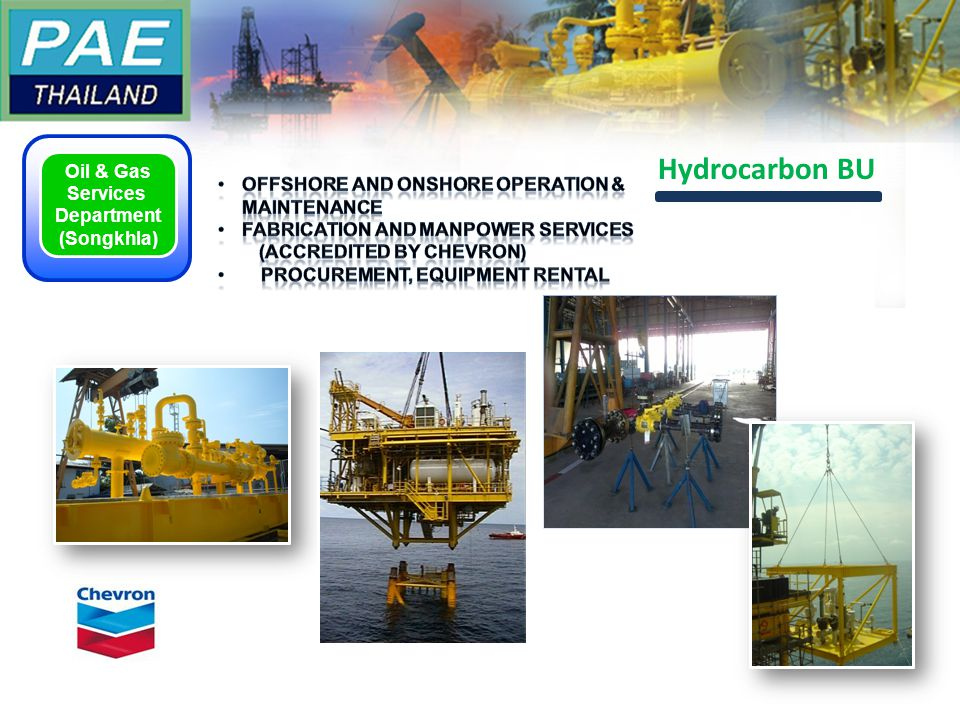 Oil & Gas Services Department (Songkhla) Hydrocarbon BU