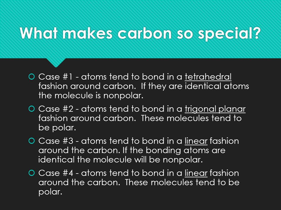 What makes carbon so special.