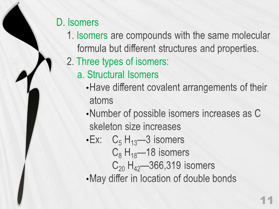 Structural Isomers 12