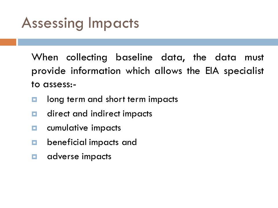 Next Phase In EIA Process Baseline data Collection Project Alternatives Impact Assessment Mitigation and Monitoring Plans Social Field Survey Social Impact Assessment Modelling studies EIS preparation