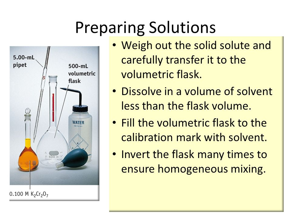 Weigh out the solid solute and carefully transfer it to the volumetric flask.