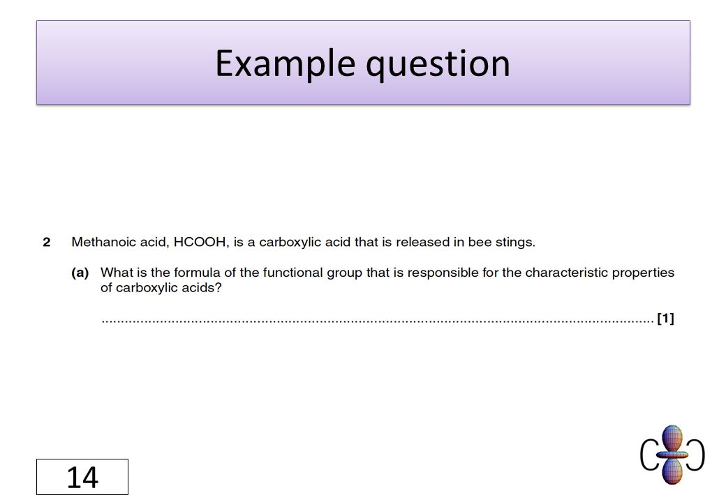 Example question 14