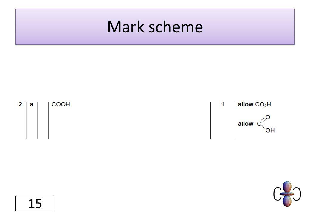 Mark scheme 15