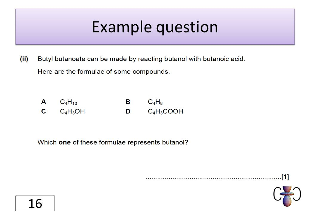 Example question 16
