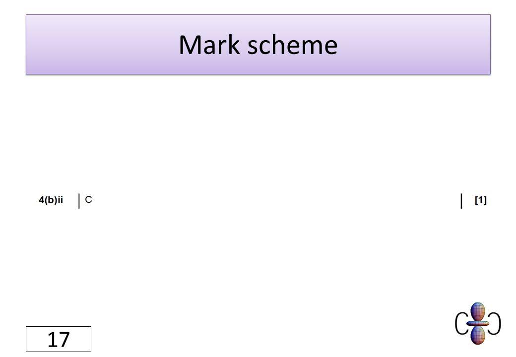 Mark scheme 17