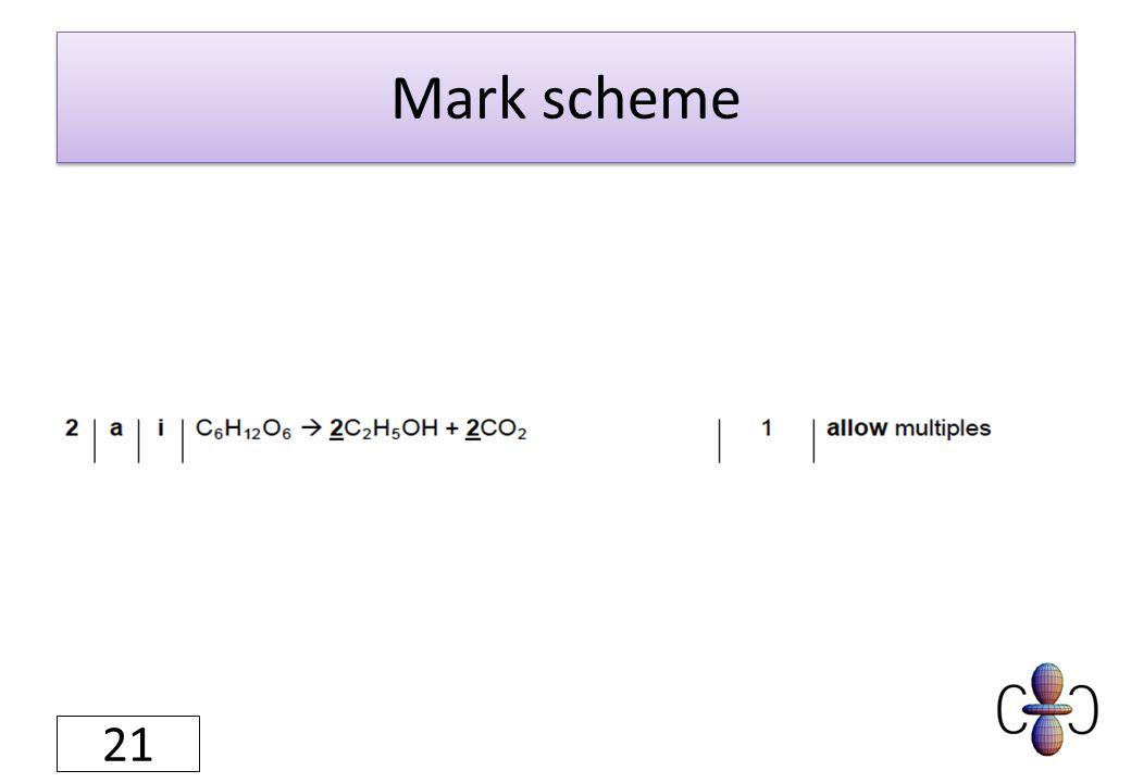 Mark scheme 21