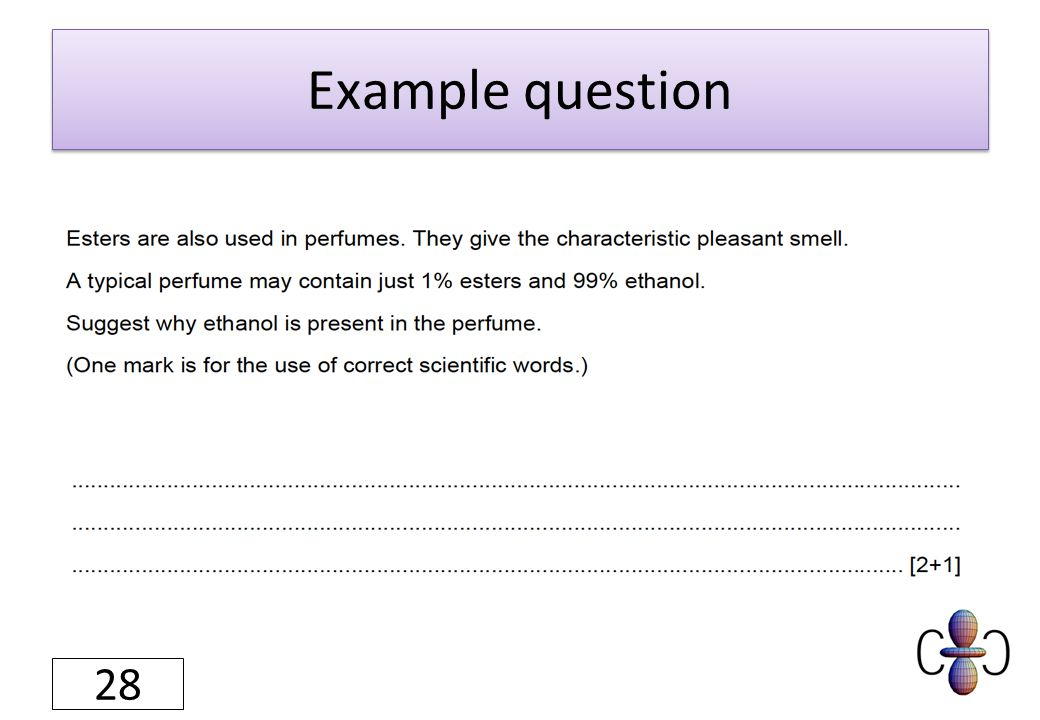 Example question 28