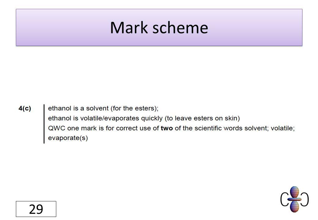 Mark scheme 29