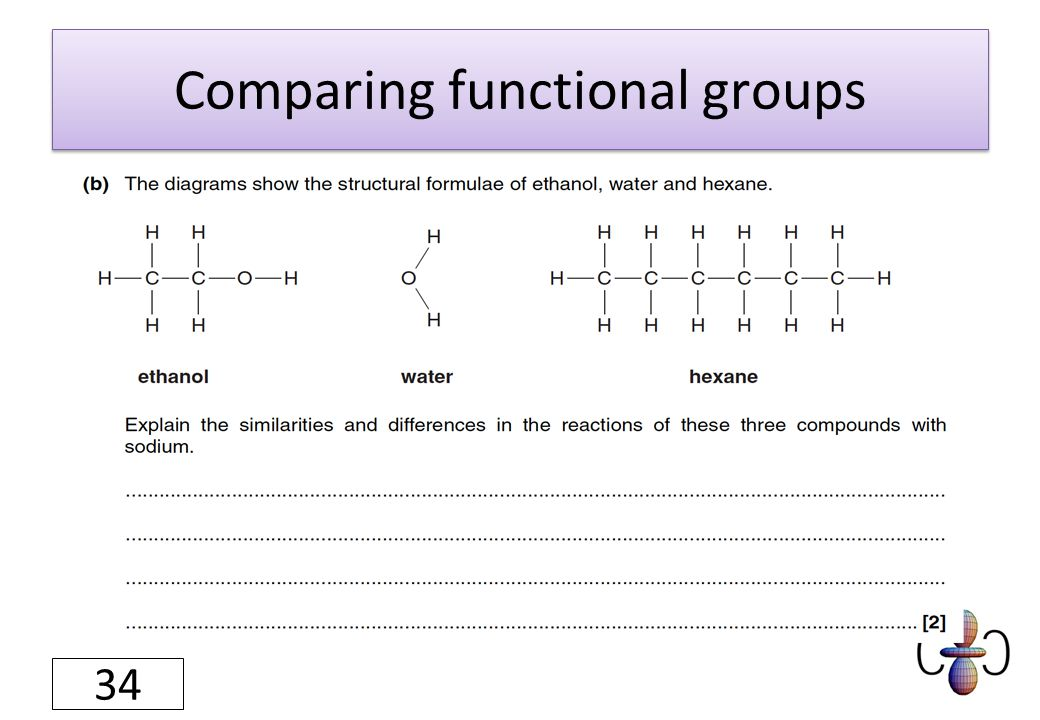 Comparing functional groups 34