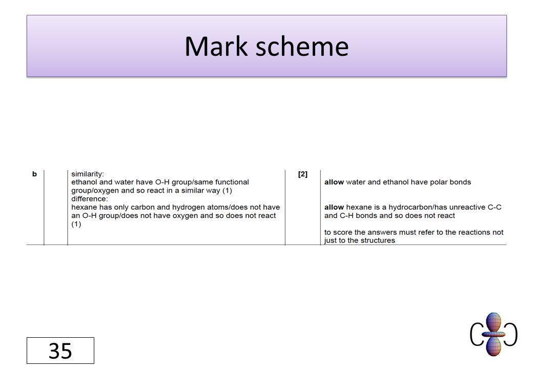 Mark scheme 35