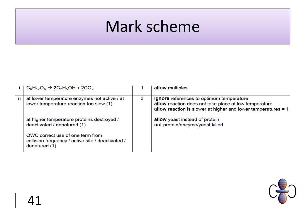 Mark scheme 41