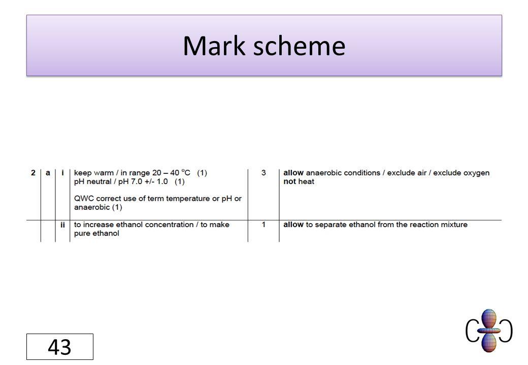 Mark scheme 43