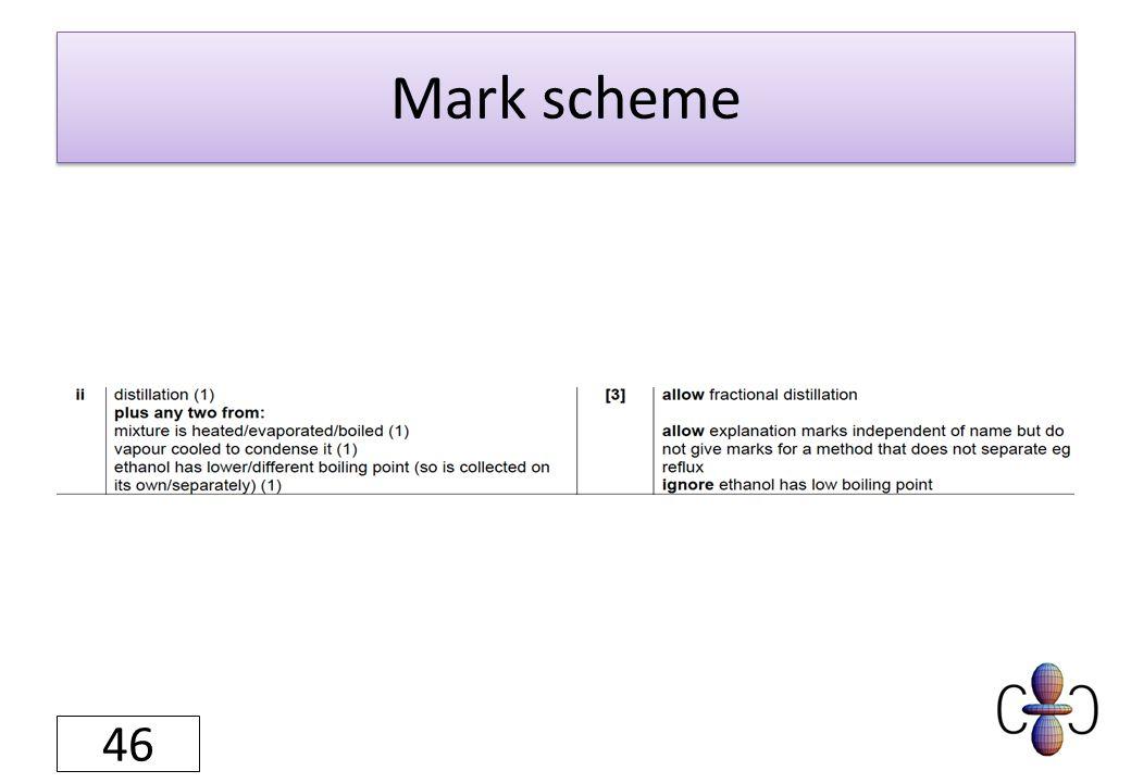 Mark scheme 46