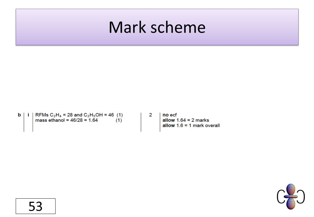 Mark scheme 53