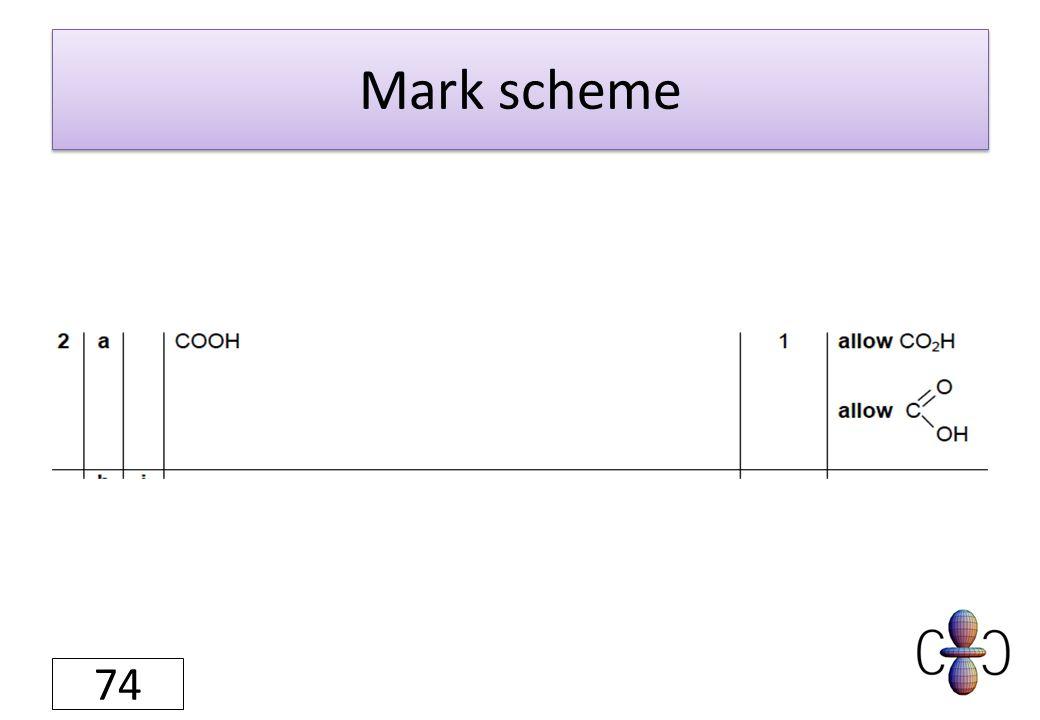 Mark scheme 74
