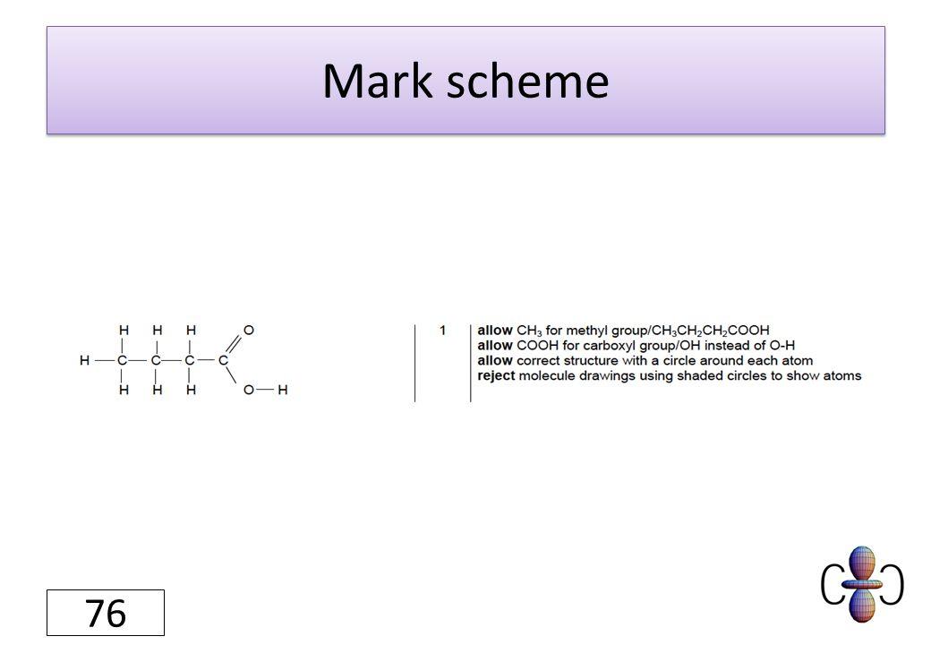 Mark scheme 76