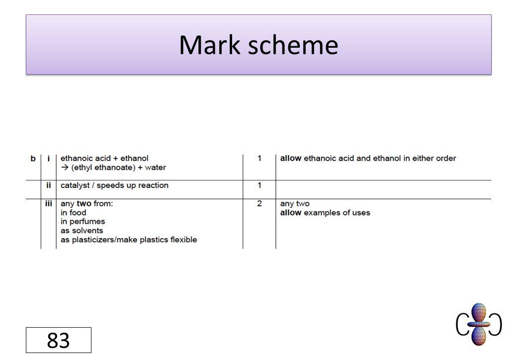Mark scheme 83