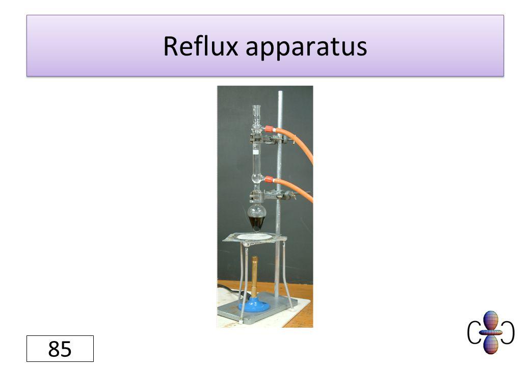 Reflux apparatus 85