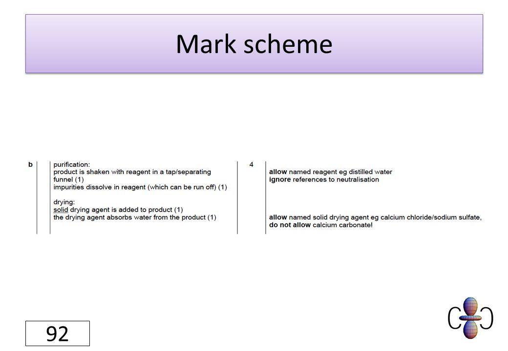 Mark scheme 92