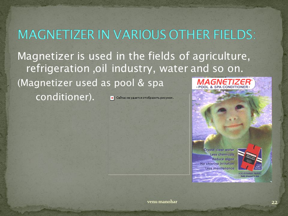 Magnetizer is used in the fields of agriculture, refrigeration,oil industry, water and so on.