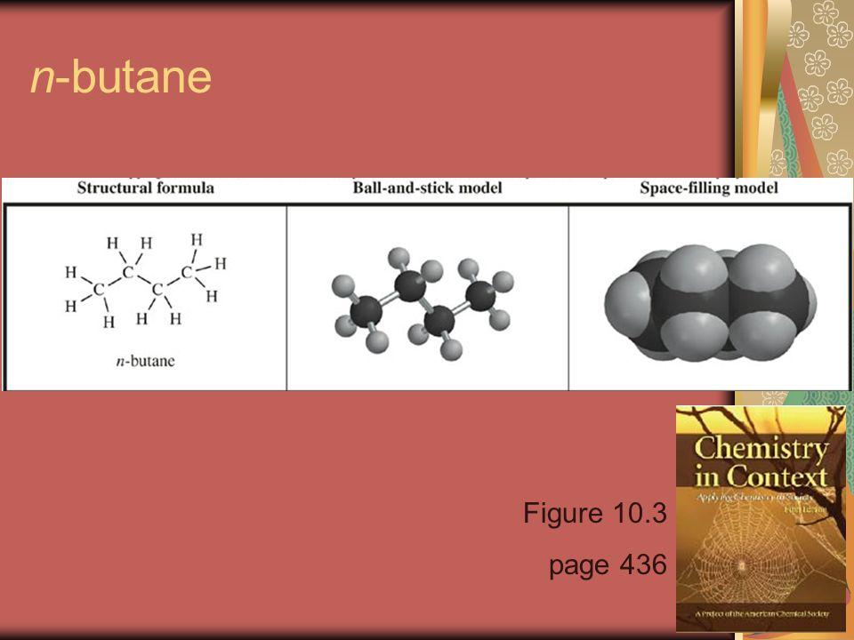 n-butane Figure 10.3 page 436