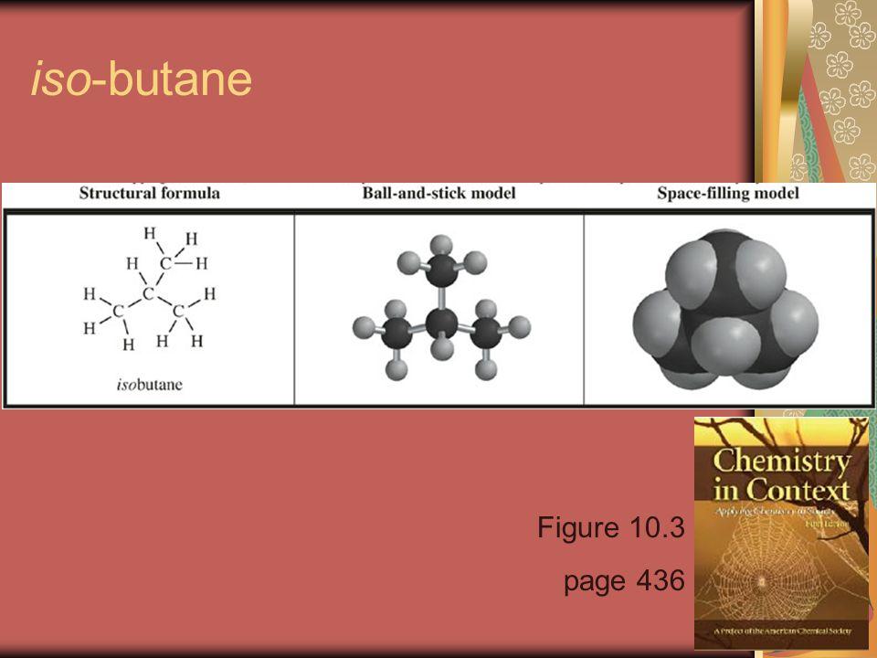 iso-butane Figure 10.3 page 436