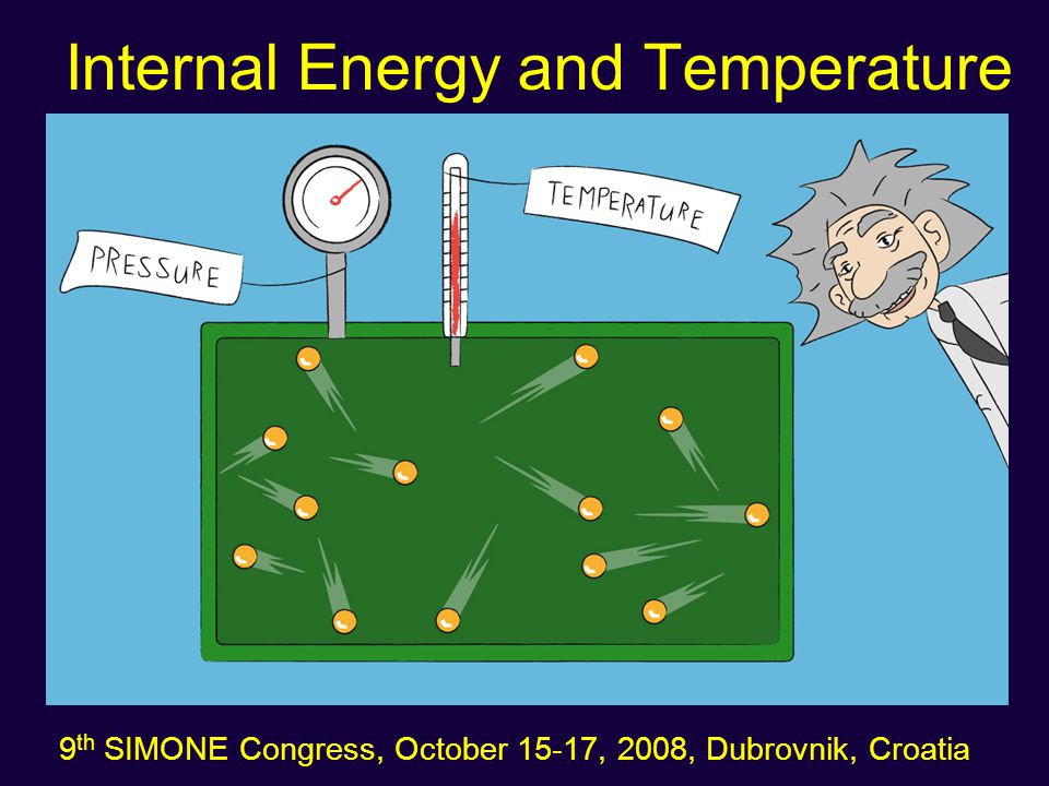 Internal Energy and Temperature 9 th SIMONE Congress, October 15-17, 2008, Dubrovnik, Croatia