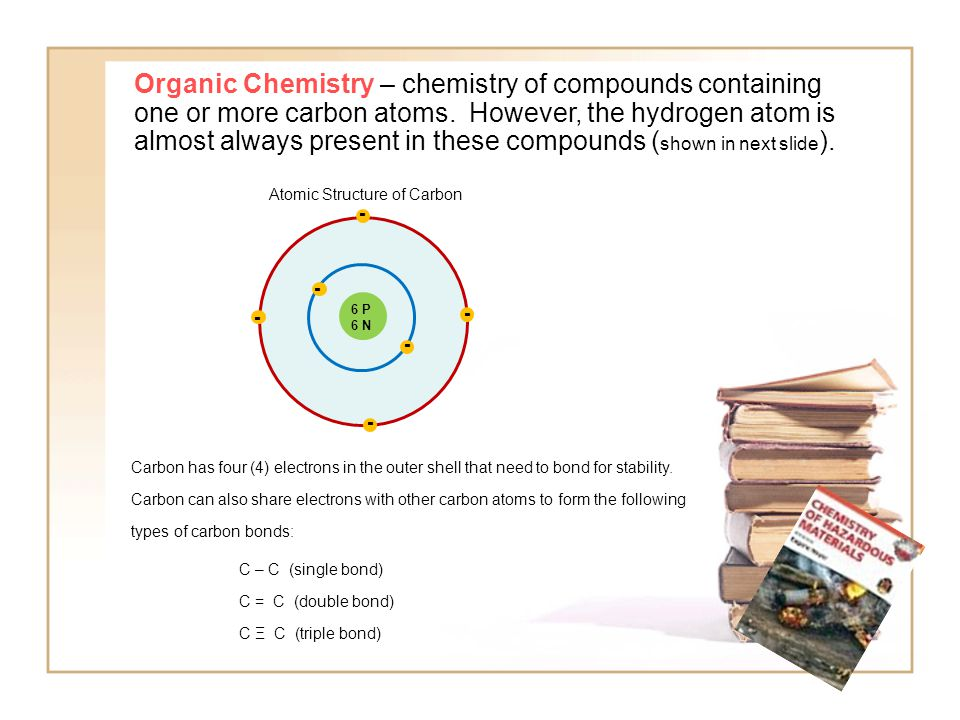 Carbon electron sharing with Hydrogen: Hydrogen has one (1) electron in its outer shell that can share with the C to form covalent bonds.