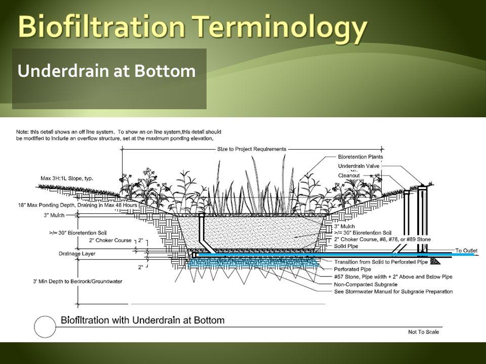 Underdrain at Bottom