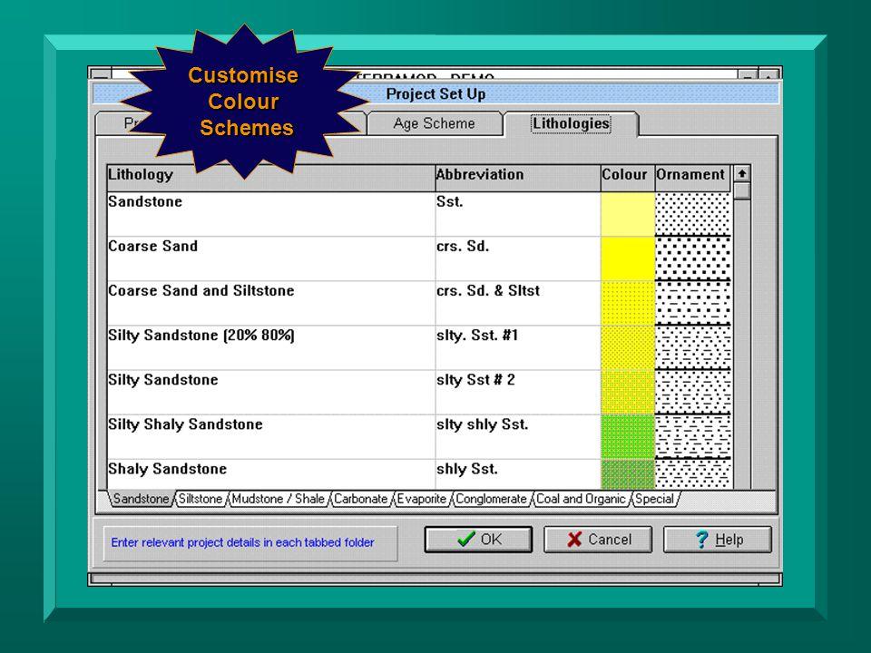 Customise Colour Schemes Schemes