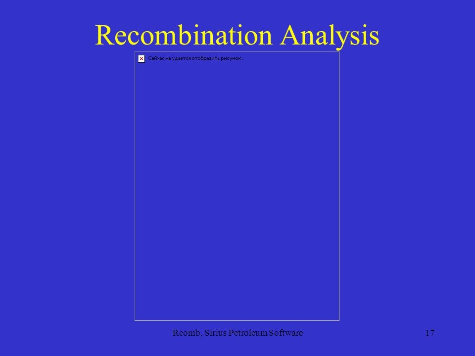 Rcomb, Sirius Petroleum Software17 Recombination Analysis