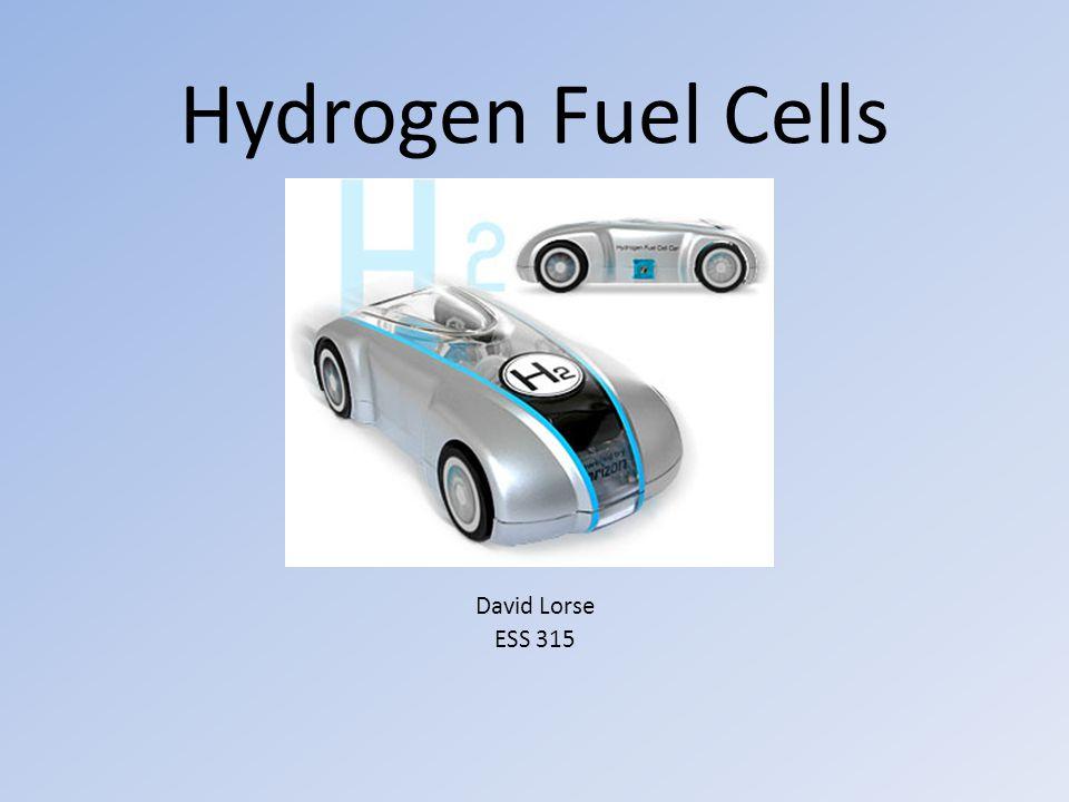 Hydrogen Fuel Cells David Lorse ESS 315