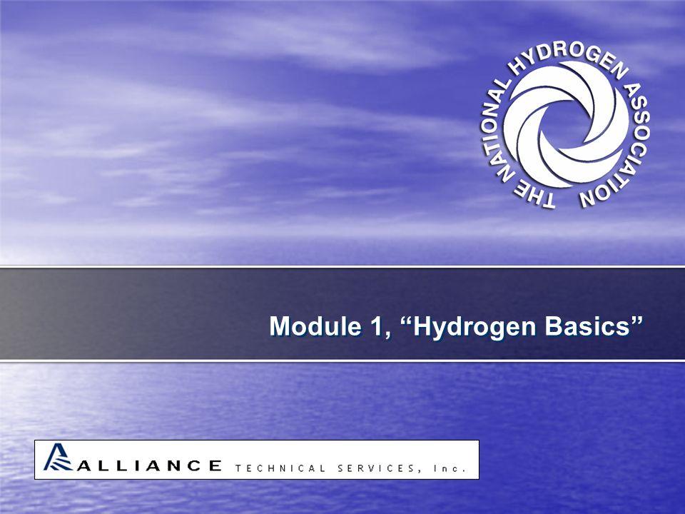 "Module 1, ""Hydrogen Basics"""