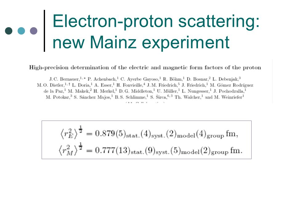 Electron-proton scattering: new Mainz experiment