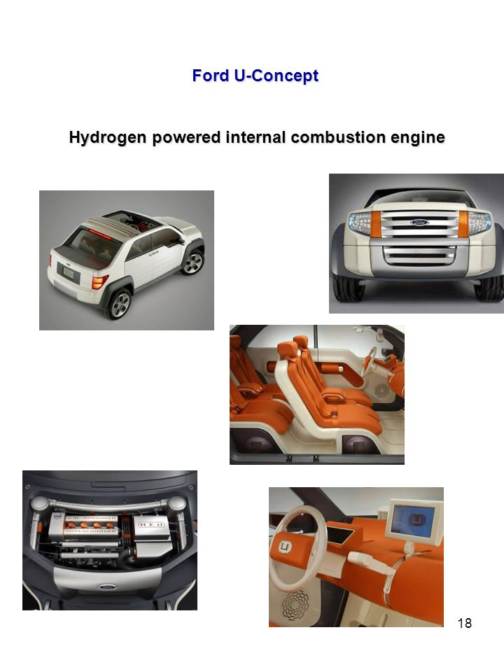 18 Ford U-Concept Hydrogen powered internal combustion engine