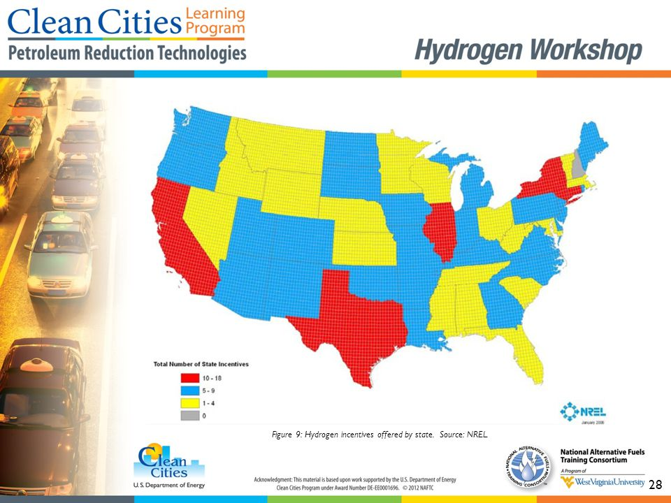 28 Figure 9: Hydrogen incentives offered by state. Source: NREL.