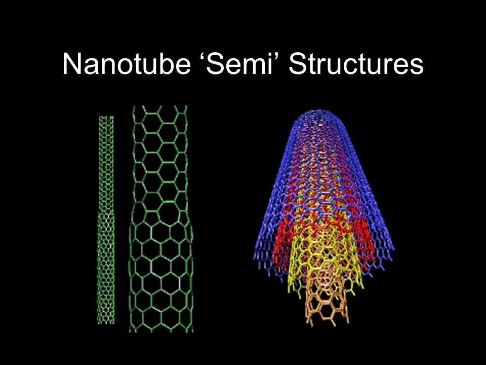 Nanotube 'Semi' Structures