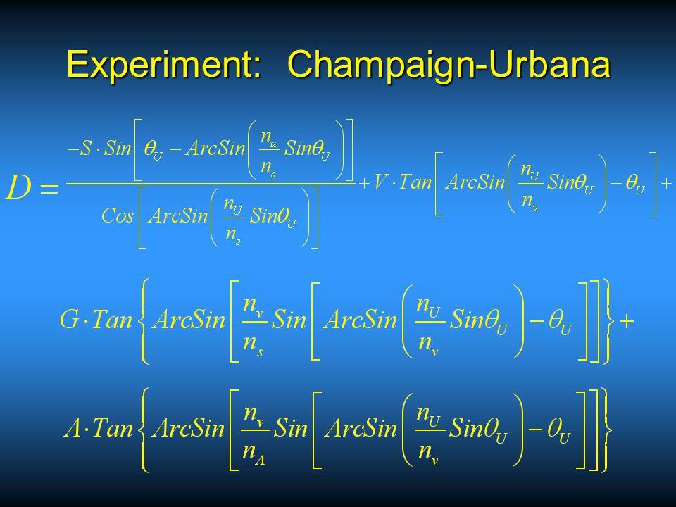 Experiment: Champaign-Urbana