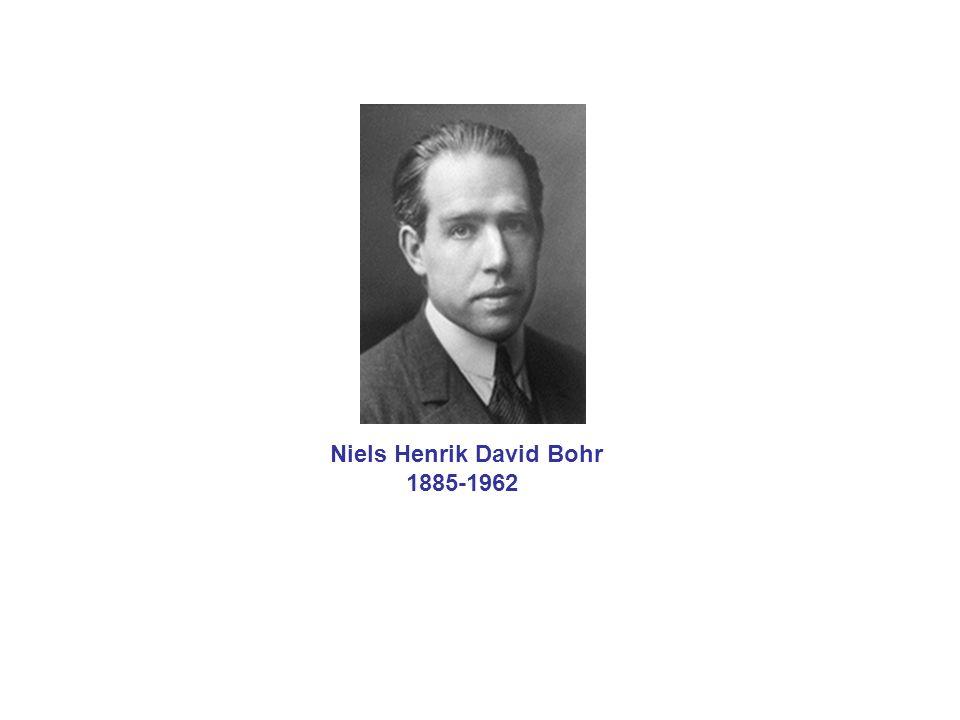 Niels Henrik David Bohr 1885-1962