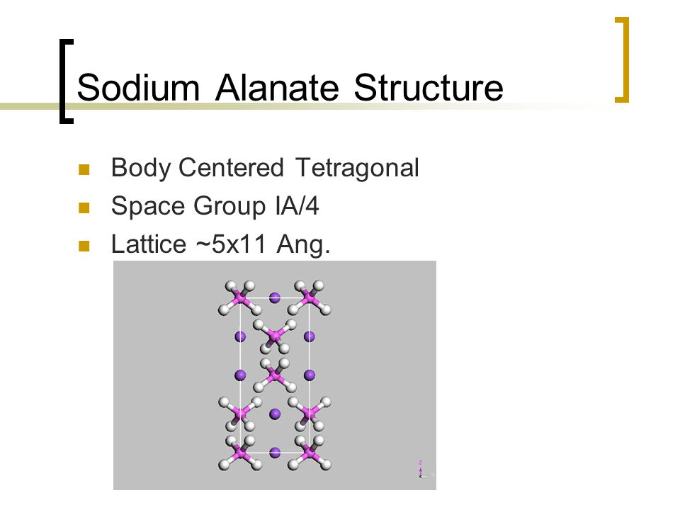 First Principle Calculations for Sodium Alanate Geometry Electronic Structure Energy of Formation
