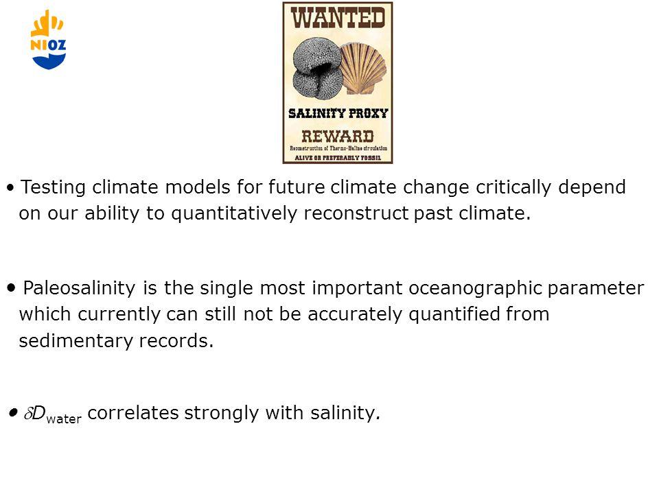 Paleo-salinity estimates based on alkenones and on dinosterol