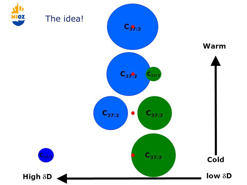 C 37:2 C 37:3 C 37:2 C 37:3 C 37:2 Warm Cold The idea! High D low D