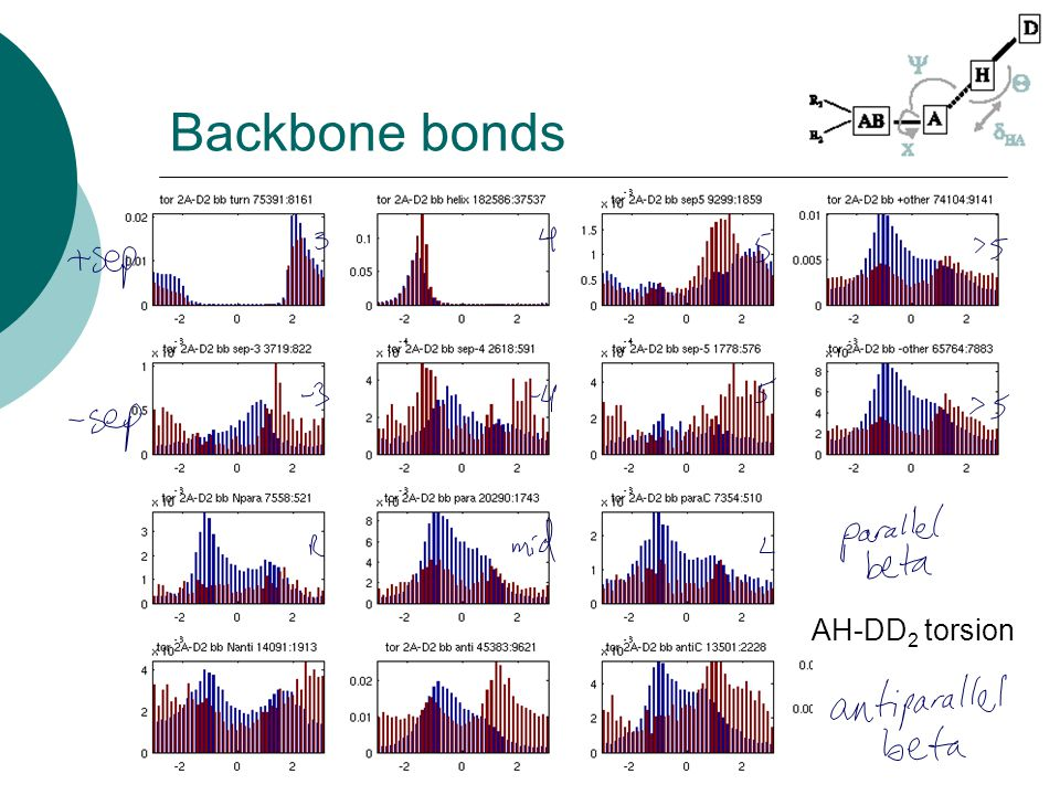 Backbone bonds AH-DD 2 torsion
