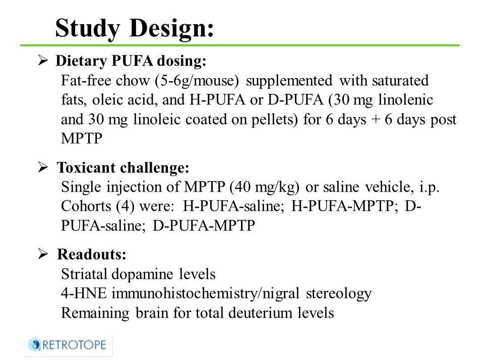 * p = 0.0077 Nigrostriatal dopamine levels Striatal DA (ng/mg protein) n=3 n=4 Manning-Bog Lab, Stanford Research Institute