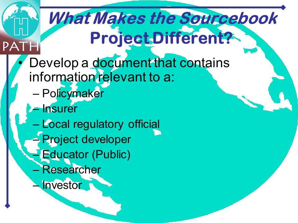 What Makes the Sourcebook Project Different.